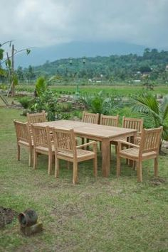 Gartentisch 220x100cm mit 8 Beaufort Stühle Teak Outdoor Furniture, Indoor Outdoor, Outdoor Decor, Best Sellers, Top, Home Decor, Decoration Home, Room Decor, Home Interior Design