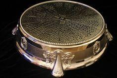 Round silver vintage cake stand
