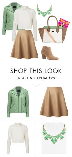 """""""Back to school"""" by momockapai ❤ liked on Polyvore featuring Gestuz, Ermanno Scervino, Vero Moda, Kate Spade and J.Crew"""