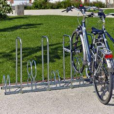 Rack 5 vélos avec arceaux anti-vol Support vélos 2 niveaux 5 places avec arceaux antivol - L. 160 cm 215,00 €