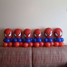 21 Spiderman Birthday Party Ideas - Pretty My Party - Party Ideas Spiderman Balloons Spiderman Balloon, Spiderman Theme Party, Baby Spiderman, Spiderman Birthday Cake, Avengers Birthday, Superhero Birthday Party, 6th Birthday Parties, Birthday Party Decorations, Spider Man Birthday