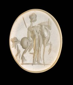 Oval gem with Castor or Pollux and horse | Museum of Fine Arts, Boston