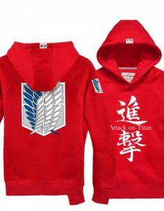 Attack on Titan Hoodie Scouting Lengion Logo Zip Up Sweatshirt For Men --