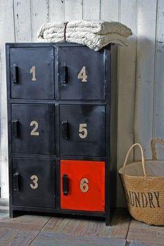 Industrial 1,2,3,4,5,6 door metal cabinet #office from Rockett St. George