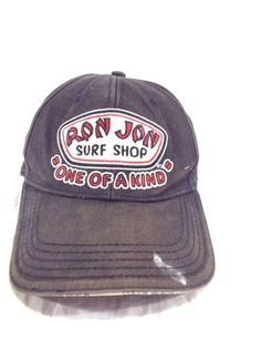 Ron Jon Surf Shop Hat Cocoa Beach Faded Beat Up Adjustable Strapback Cap   RonJon Surf 73b7ee30c68