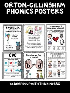 Orton-Gillingham Phonics Posters by Keepin up with the Kinders Phonics Rules, Spelling Rules, Phonics Activities, Dyslexia Activities, Spelling Practice, Learning Disabilities, Dyslexia Teaching, Teaching Reading, Reading Games