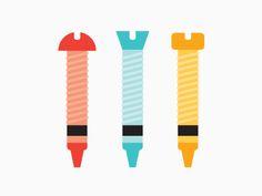 Crayon Bolts by Joanna Malinis
