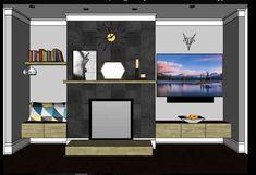 Eklektický domov: Stěna s krbemÚkolem tohoto návrhu bylo dokončit st...