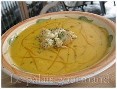 Le palais gourmand: Crème de carottes jaunes et poireaux au safran