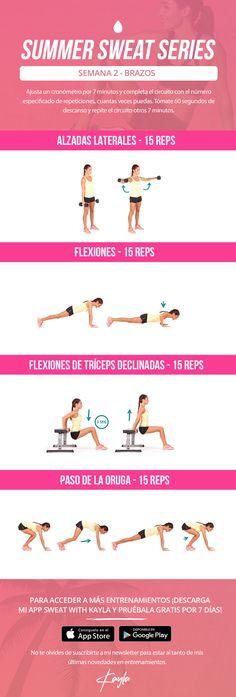 kayla itsines summer sweat series, summer sweat series wednesday week 2 , free kayla itsines workout