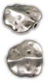 cuenta plana irregular 16x17mm agujero 1,2mm plata antigua http://nellass.com/categories/CUENTAS-Y-ABALORIOS/ZAMAK/cuentas-y-rondeles/