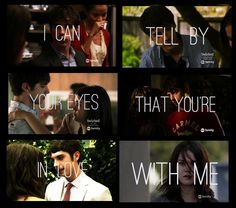 """I can tell by your eyes that you're in love with me"" #brallie #ballie #thefosters"