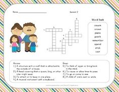 Vocabulary Crossword Puzzle - 2nd Grade - Journeys Lesson 2
