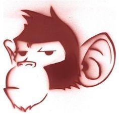 easy graffiti character suspicious monkey