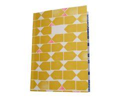 Tas-ka notitieboek geel + roze
