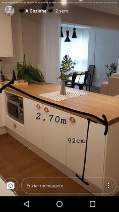 Kitchen Room Design, Living Room Kitchen, Kitchen Decor, My Home Design, Home Interior Design, House Design, My Kitchen Rules, Kitchen Sets, Studio Apartment Design