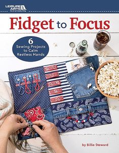 "Fidget To Focus - Designed to help people with Alzheimer's, dementia, autism, and other cognitive challenges, these 6 activity aids featured in Fidget Mats by Leisure Arts help to keep fingers busy and minds focused. Our instructions make it simple for even beginners to sew these helpful aids for all ages. Projects by Billie Steward include a Fidget Cube (10"" x 10"" x 10""), Fidget Squares (8"" x 8""), Ladies' Mat (24"" x 18""), Flannel Shirt Mat (15"" x 21""), Kids Mat (24"" x 16""), and a Men's…"
