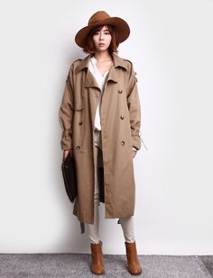 caramel + camel + beige + white :: loose trench