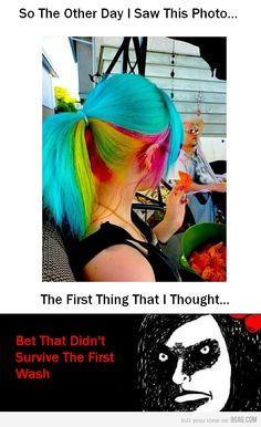 Bahahahaha hairstylist mentality!