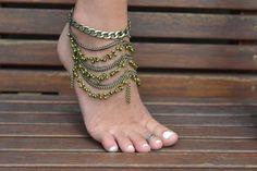 Angelina Tornozeleira bronze - Graça Bijoux