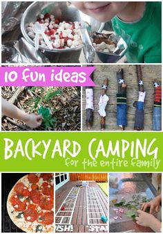 Super fun ideas for camping in your backyard with kids...shhh...you don't even have to spend the night out there!