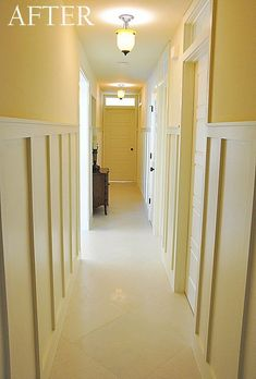 Before & After: A Dark Hallway Comes into the Light — To the Moon and Back | Apartment Therapy