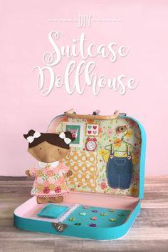 Cute Doll House Mini Luggage Box Miniature Coth Wood Suitcase Toys Wonderful Q