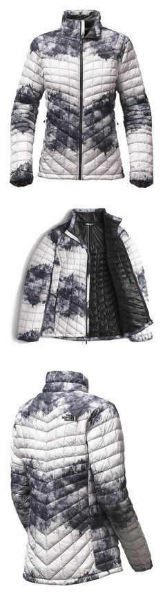 5a5857cbb7d9 $128.95 - The North Face Women's Thermoball Full Zip Jacket Tnf Black  Borealis Tonal Print #