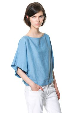 KIMONO SLEEVE TOP - Woman - New this week - ZARA United Kingdom £25.99