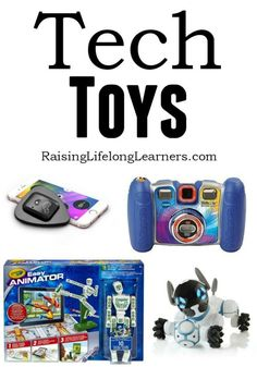 Tech toys are the perfect way to introduce new technological and real-world concepts to kids. Here are some of our favorites for this year...