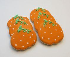 Polkadot pumpkin cookie