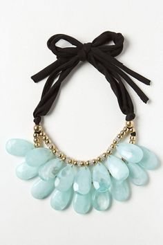 black and mint necklace from Anthropologie