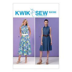 Kwik Sew Sewing Pattern K4155 Misses' Shirtdresses … WeaverDee.com