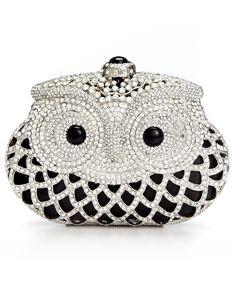 Sasha Jeweled Owl Minaudiere Clutch - Handbags & Shoes Pop Up Sale - Macy's