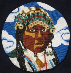 Wishram Pride- after a curtis photo  showing a really beautifull Native American woman with a lot of beaded adornment