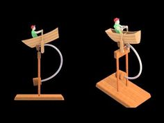 Balancing Fisherman Wooden Toy - YouTube