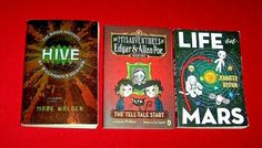 3 Science Fiction Books Middle School H.I.V.E. Life On Mars Edgar Allan Poe Life On Mars, Edgar Allan Poe, Chapter Books, The Middle, Tween, Middle School, Good Books, Edgar Allen Poe, Teaching High Schools