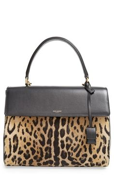 Gorgeous Saint Laurent calf hair & leather satchel http://rstyle.me/n/wexw9nyg6