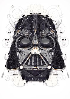 Star Wars, Darth Vader - Created by Yo Az. Patrick Seymour, Darth Vader, Vader Star Wars, Star Wars Love, Star Wars Art, Star Trek, Star Wars Identities, Amour Star Wars, Pop Art