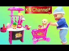 Đồ chơi nhà bếp BÚP BÊ BABY ALIVE ĐI SIÊU THỊ & NẤU ĂN Toy kitchen velcro fruit vegetables