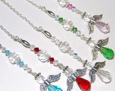 8dffc0076 Guardian Angel, Rearview Mirror Car Charm, Swarovski Hanging Angel  Ornament, Window Decor,