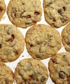 Toffee-Oat Chocolate Chip Cookies | How do we like to end meals? With sweet treats that are equal parts yummy and easy. These recipes—the most-pinned desserts on our boards—more than satisfy.