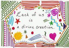 """Divine Creation"" - Original Drawing by Susan Schanerman"