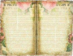 Shabby Chic Journal Pages