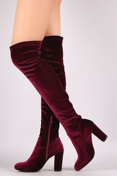 Crushed Velvet Ch... http://www.jakkoutthebxx.com/products/crushed-velvet-chunky-heeled-over-the-knee-boots-knee-high-boots-heel-height-3-5-shaft-length-23-25-including-heel-top-opening-circumference-13-5-black-wine?utm_campaign=social_autopilot&utm_source=pin&utm_medium=pin #alloverprint #mall #style #trending #shoppingaddict  #shoppingtime #musthave #onlineshopping #new