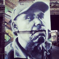 guy with a baseball hat - street art berlin 2015 @ rosa luxemburg platz - photo by ironwhy