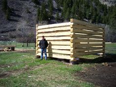 Instructable: How to build a log cabin with dovetail notches