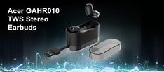 Acer GAHR010 true wireless earbuds are designed to offer a comfortable and secure fit. They are fully compatible with all smartphones. Tab to read more.