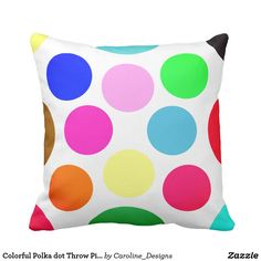 Rest your head on one of Zazzle's Polka Dot decorative & custom throw pillows. Decorative Throw Pillows, Polka Dots, Colorful, Store, Bed, Accent Pillows, Stream Bed, Larger, Polka Dot