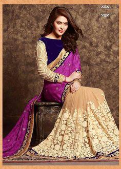 Party Wear Chiffon Satin & Net Fabric Sari